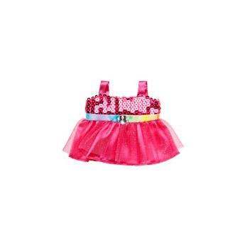 BUILD-A-BEAR BUDDIES FANCY FUCHSIA DRESS
