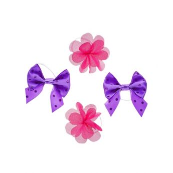 4PK BOWS AND FLOWERS