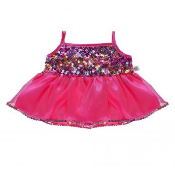PINK RAINBOW SEQUIN DRESS