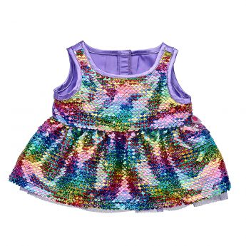 RAINBOW FLIP SEQUIN DRESS
