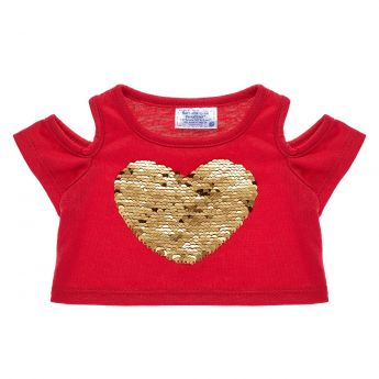 RED HEART GOLD SHOULDER TEE